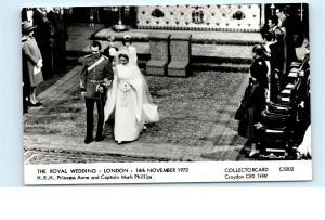 Royal Wedding November 14 1973 Princess Anne Captain Mark Phillips Postcard C68