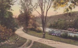 Ottauguechee River And Bridgewater Road Woodstock Vermont Handcolored Albertype