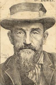 BOER WAR, Boer General Christiaan de Wet (1902)