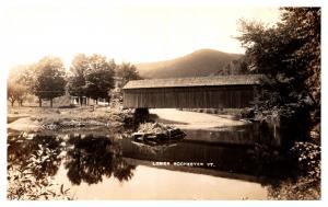Vermont  Lower Rochester , Covered Bridge ,  RPC
