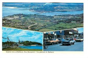 3-Views, General View Of Bathurst, New Brunswick, Canada, 1940-1960s