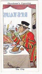 Churchman Vintage Cigarette Card Howlers No 34 The City  1937