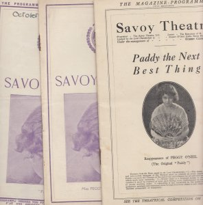 Paddy The Next Best Thing Peggy O Neil 3x Rare Irish Theatre Programme s
