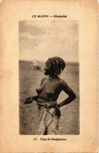 PC CPA Le Maroc Senegalais North Africa FEMALE ETHNIC NUDE (a9862)