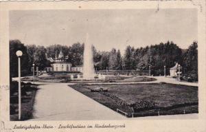Leuchtfontane Im Hindenburgpack, Ludwigshafen-Rhein, Rhineland-Palatinate, Ge...