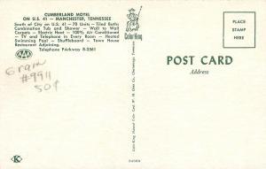 Manchester TN~Cumberland Motel Swimming Pool~Patio Furniture~1960s Postcard