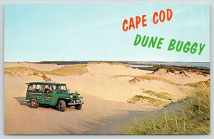 Provincetown MA~Cape Cod Dune Buggy~Sightseeing Beach Taxi~Jeep? 1950s