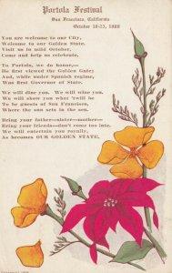 SAN FRANCISCO , Ca. , 1909 ; Portola Festival Poem
