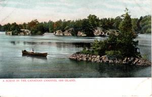 CANADA  PC1708 RIVER SCENE, THOUSAND ISLANDS, ST LAWRENCE RIVER