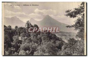 Old Postcard Lake Annecy Chateau de Menthon