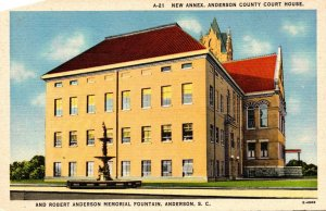 South Carolina Anderson County Court House New Annex and Robert Anderson Memo...