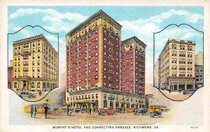 Murphy's Hotel & Annexes Richmond Virginia 1930s postcard