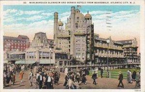 New Jersey Atlantic City Marlborough Blenheim And Dennis Hotels From Boardwalk