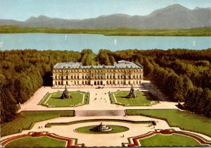 Germany Schloss Herrenchiemsee With Latona Fountain
