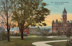 WAUSAU , Wisconsin , 00-10s ; Library Park