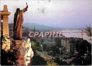 Modern Budapest Postcard View with St. Gellert Statue