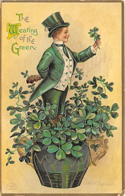 St Patrick's Day Post Card Old Vintage Antique International Art Publish...