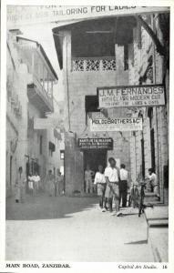 tanzania, ZANZIBAR, Main Road (1930s) Capital Art Studio No. 16, Postcard