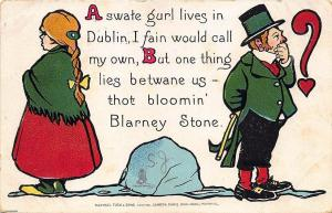 Irish A Swate Gurl lives in Dublin Valentine Raphael Tuck Postcard