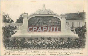 Postcard Old Chartres Monument Elevate has Pasteur in Memory of Experiences o...