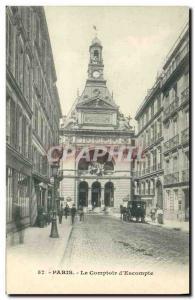 Old Postcard Bank of Paris Le Comptoir & # 39Escompte