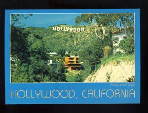 Hollywood, California/CA Postcard, Landmark Hollywood Sign, Near Mint!