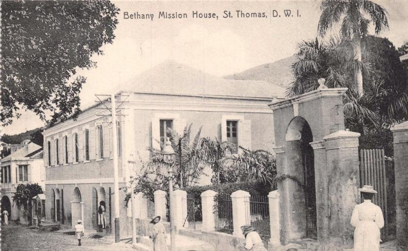 ST THOMAS DANISH WEST INDIES~BETHANY MISSION HOUSE~LIGHTBOURN PHOTO POSTCARD