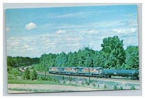 Vintage 1979 Postcard Seaboard Coast Railroad Locomotive Collier Yard Virginia