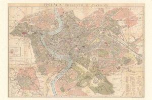 Roma Rome Presente E Avvenire Map Postcard