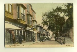 h0479 - High Street , Shanklin , Isle of Wight - postcard