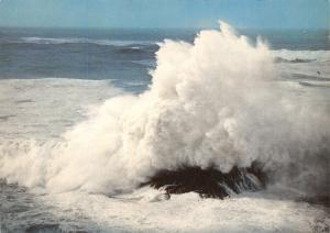 Cornwall Postcard, Atlantic Fury, Rough Sea on the Cornish Coast S14