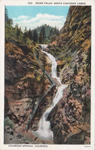 Colorado Colorado Springs Seven Falls South Cheyenne Canon Curteich