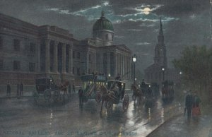 LONDON , England , 00-10s ; National Gallery at night ; TUCK 768 ; #2