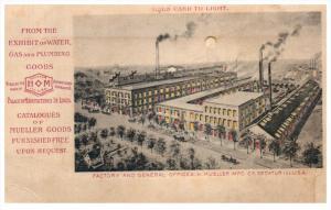 Hold to Light . Illinois Decatur H.Keller Mfg Co. Factory