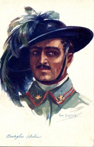 WWI - Bersaglier, Italian.  Artist: Em Dupuis