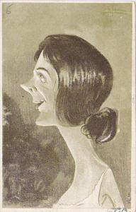 Stage Actors Head Caricature portrait , PU-1905 ; New York City ; #2