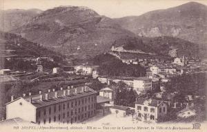 SOSPEL, Vue sur la Caserne Mireur, la Ville et le Barbonnet, Alpes Maritimes,...