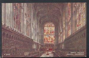 Cambridgeshire Postcard - King's College Chapel, Cambridge   RS16699