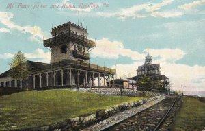 READING, Pennsylvania, PU-1910; Mt. Penn Tower and Hotel