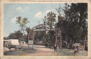 Canada Ontario Gateway to Martin River Camp, Ferguson Highway, near North Bay