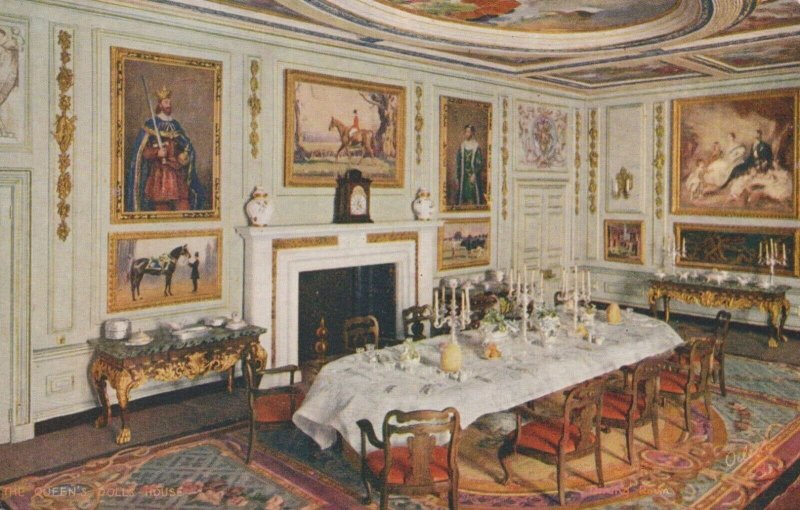 Royalty Postcard - The Queen's Dolls House - Dining Room   RS21538
