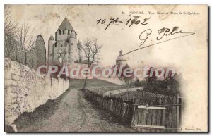 Old Postcard Provins Cesar Tower and Dome of St Quiriace