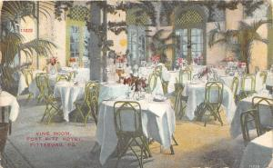 Pittsburgh Pennsylvania~Fort Pitt Hotel Dining Room~Fancy Tableware & Plants~'10