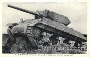 U.S. M-10 Tank Destroyer Military Postcard Postcards  U.S. M-10 Tank Destroyer