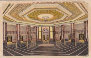 Missouri Kansas City The Little Theatre Municipal Auditorium Curteich