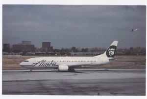 Alaska Airlines Boeing B-737-4Q8 Postcard - John Wayne Airport Undated