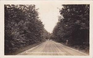 RP; Road to Hanson State Military Reservation, Grayline, Michigan, PU-1929