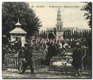 Old Postcard Bayeux Le Marche aux Gentlemen of Sees Pigs Pigs TOP