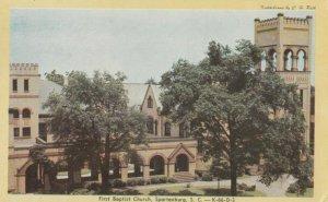 SPARTANBURG , South Carolina , 50-60s ; First Baptist Church
