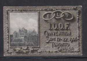 Postcard I.O.O.F. Convention 1906 Toronto Canada  Unused